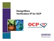 DesignWare Verification IP for OCP - OCP-IP
