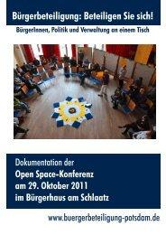 Open Space-Konferenz am 29. Oktober 2011 im Bürgerhaus am ...