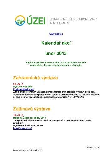 Kalendář akcí - únor 2013 - Informační centrum bezpečnosti potravin