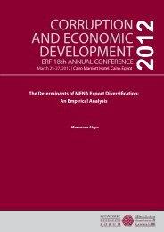 The Determinants of MENA Export Diversification - Economic ...