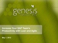 Genesis_Lean Agile SAP RallyOn_v2.pdf - Rally Software