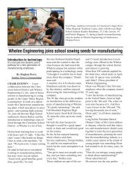 Whelen Engineering joins school sowing seeds for manufacturing