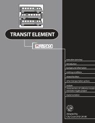 Transit Element - City of Las Vegas