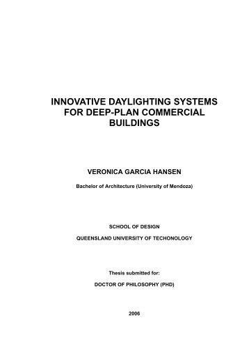 innovative daylighting systems for deep-plan commercial buildings