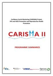 Programme summaries - Pan Caribbean Partnership against HIV ...