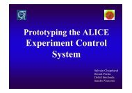 Prototyping the ALICE Experiment Control System - ITCO