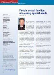 Female sexual function: Addressing special needs - CECity