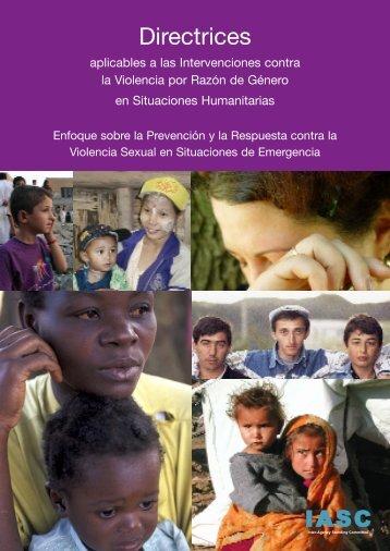 Directrices Aplicables a las Intervenciones contra la Violencia por