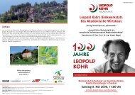 Das Akademische Wirtshaus - Leopold Kohr Akademie