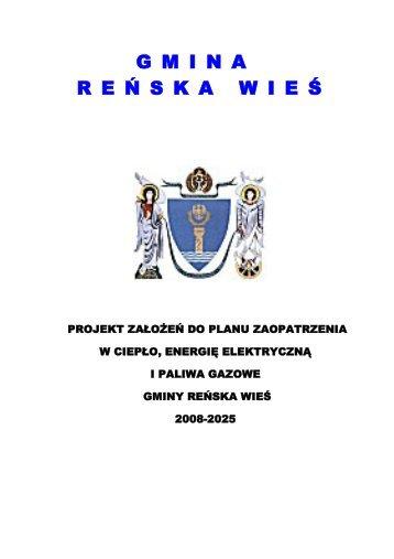 Projekt założeń do planu zaopatrzenia w ciepło ... - Reńska Wieś