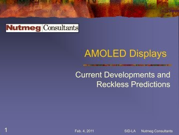 AMOLED Displays – Current Developments And ... - Sidchapters.org