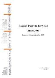 Rapport d'activité 2006 - Arald