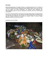 Sein Grab Marcs Beerdigung fand im engsten Familien - Skater Marc