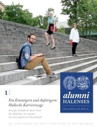 als PDF - Alumni Halenses - Martin-Luther-Universität Halle ...