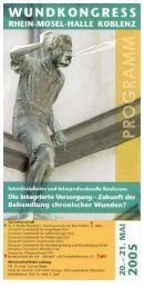 Untitled - Deutsche Gesellschaft für Wundheilung und ...