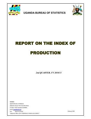 IOP-Report Qter 4 2010 - Uganda Bureau of Statistics