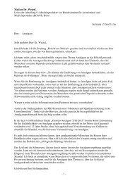 Schriftverkehr mit Dr. Dirk Wetzel (BfArM) - Amalgam Informationen