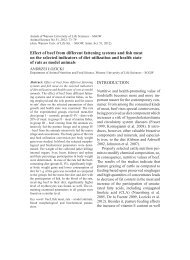 Effect of beef from different fattening systems and fish meat on the ...