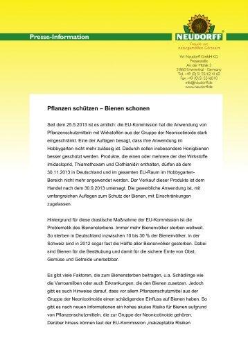Pflanzen schützen – Bienen schonen - Neudorff