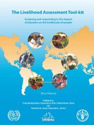 The Livelihood Assessment Tool-kit - FAO