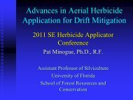 Advances in Aerial Herbicide Application for Drift Mitigation
