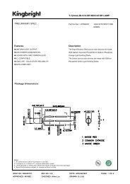 Package Dimensions T-1(3mm) BI-COLOR ... - PCB-Components