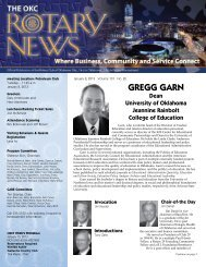 GREGG GARN - Rotary Club of Oklahoma City