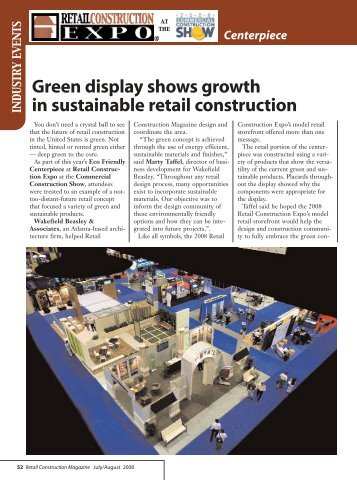 Green Display shows growth in sustainable retail construction