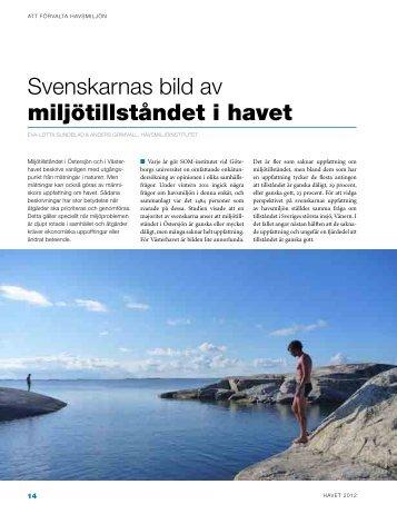 Svenskarnas bild av miljötillståndet i havet - Havsmiljöinstitutet