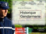 Missions et organisation de la gendarmerie nationale - 1,38 Mb