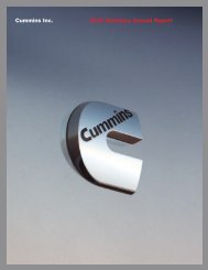 Cummins Inc. 2007 Summary Annual Report - Cummins.com