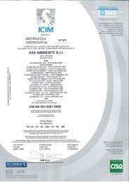 UNI EN ISO 9001 - A2A