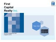 as of June 30, 2012 - First Capital Realty