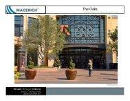 The Oaks Technical Tenant Criteria Manual - Macerich