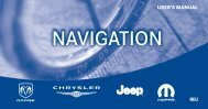 2010 REU Navigation System User's Manual - Jeep