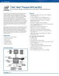 Intel® Atom™ Processor D410 and D510