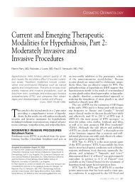 Current and Emerging Therapeutic Modalities for ... - Cutis