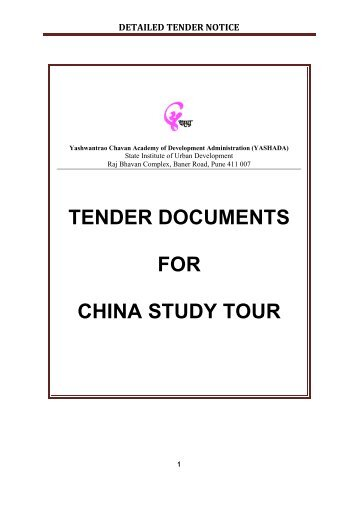 DETAILED TENDER NOTICE - yashada