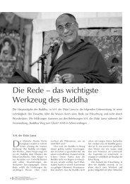 Die Rede – das wichtigste Werkzeug des Buddha