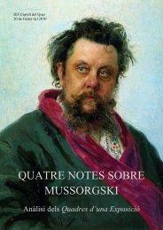 quatre notes sobre mussorgski - Premis Universitat de Vic als millors ...