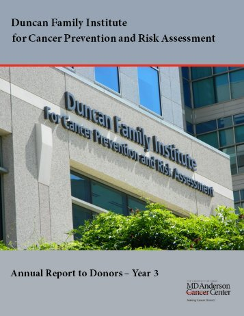 research programs - MD Anderson Cancer Center