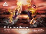 2011 Annual Results - TodayIR.com