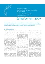 Jahresbericht 2009.indd - Konferenz für Heilpädagogik und ...