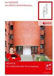 Mediator Broschüre Mehrfamilienhaus - Assa Abloy