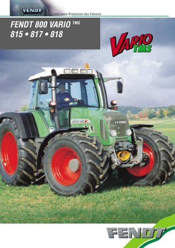 FENDT 800 VARIO TMS 815 • 817 • 818 - Lectura SPECS