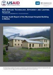 Energy Audit Report of the Municipal Hospital Building ... - Tkibuli Tea