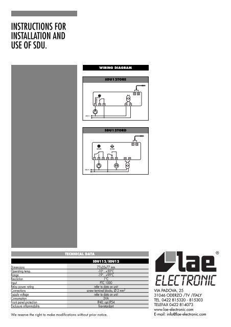 SDU12 - HVAC and Refrigeration Information Links