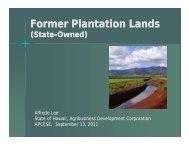 Former Plantation Lands