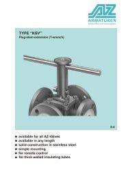 TYPE KSV Plug-stem-extension (T-wrench)