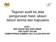 Teguran audit ke atas pengurusan hasil, akaun - NRE
